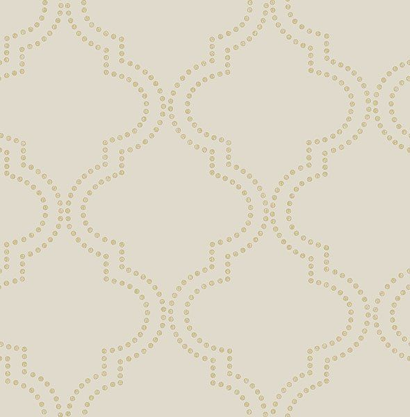 Superb Tetra Beige Quatrefoil Wallpaper From The Symetrie Collection By Brews