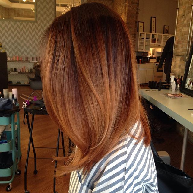 Balayage On Dyed Red Hair