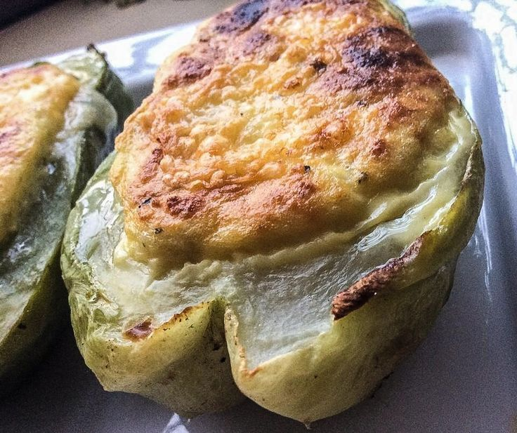Baked chayote recipe, vegetarian