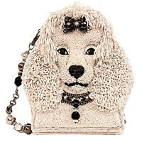 Mary Frances Fifi Poodle Dog White Puppy Beaded Purse Bag Handbag NEW