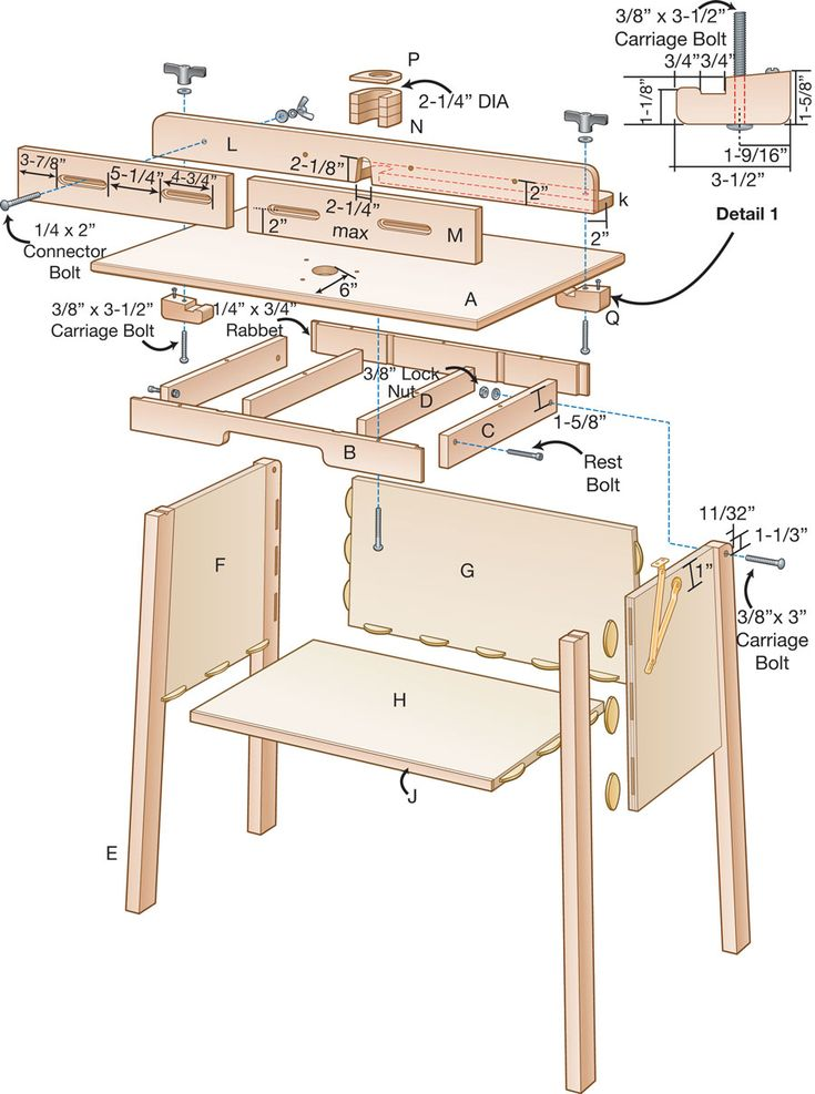 plans for a router table                                                       …