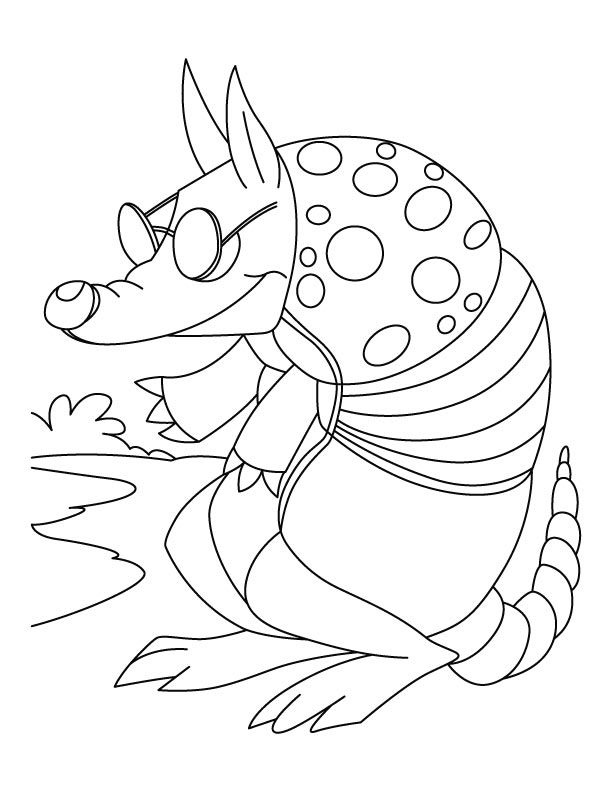 Armadillo Coloring Page Coloring Pages Armadillo Color