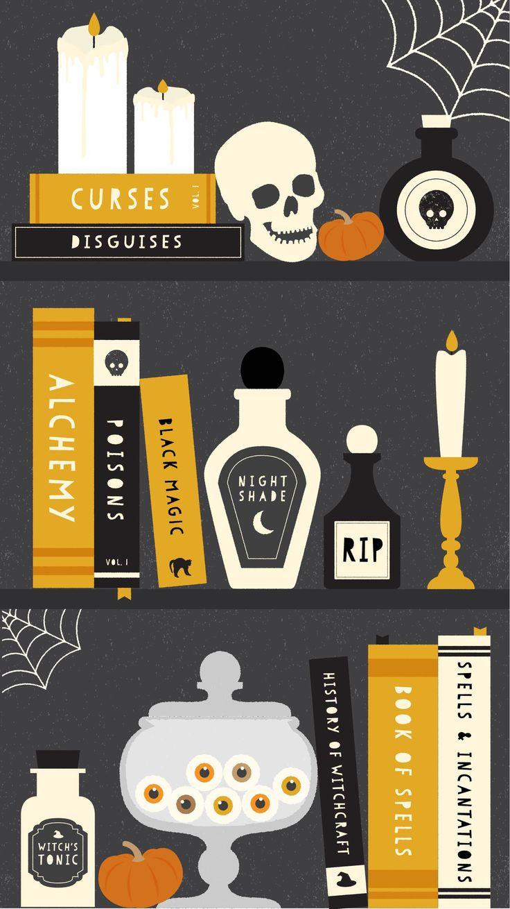 Halloween Desktop & Mobile Wallpapers - Three Cheers + Co