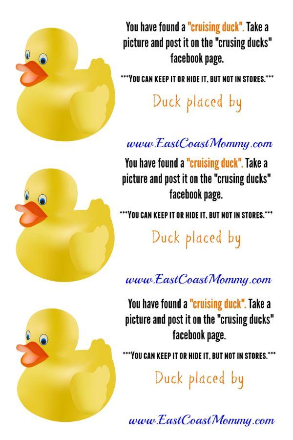 East Coast Mommy Cruising Ducks Duck Diy Carnival Custom