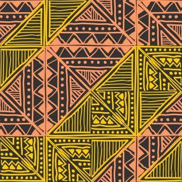Tribal Seamless Pattern Vector Hand Drawn Batik Motif ...