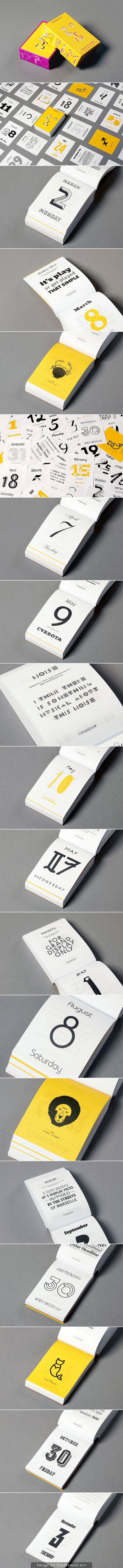 Typodarium 2015 by Slanted Publishers