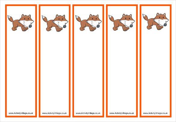 Free sample bookmarks