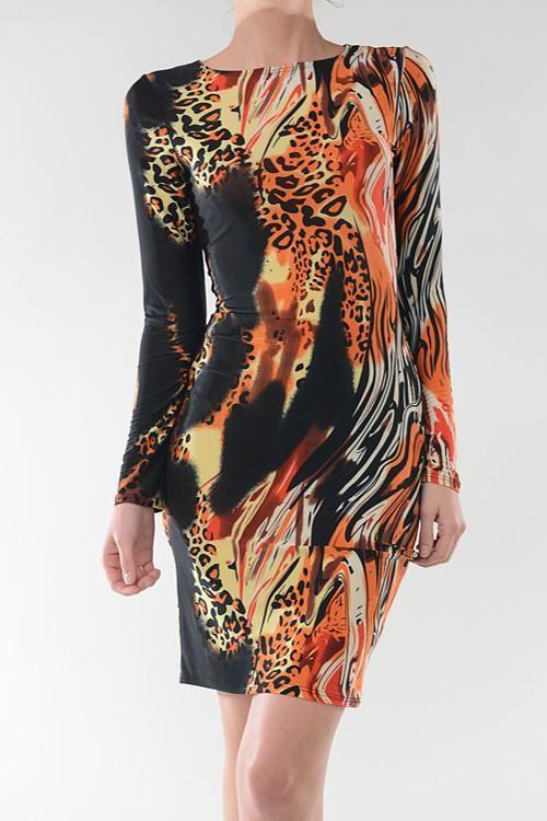 Plus Size Multi Color Party Dress