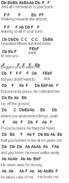 Piece By Piece Chords - Retina