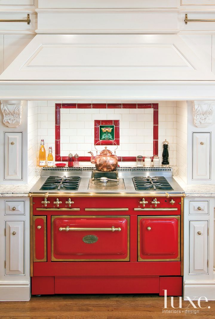 A Cherry Red French Morice Stove Purchased At Arizona Wholesale Brings A  Spot Of Color To The All White Kitchen, Creating A Distinct Centerpiece Of  The ... Part 78