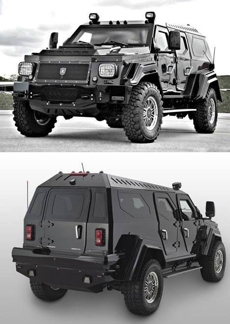 Armoured SUV Zombie apocalypse preparation lol