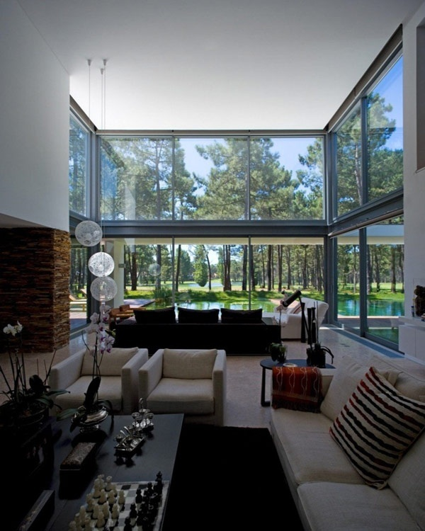 ,,: Living Rooms, Open Spaces, Window, Lakes Houses, Interiors Design, Modern Architecture, Glasses Wall, Frederico Valsassina, Houses Design