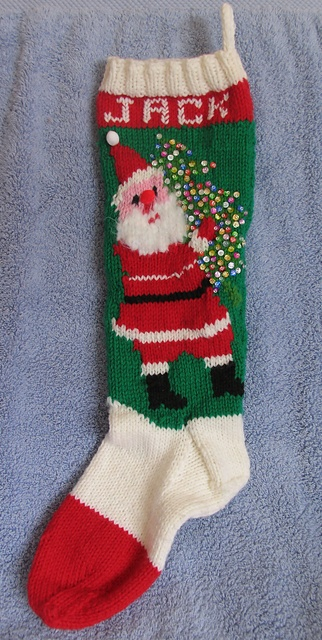 Ravelry: Christmas Stocking pattern by Bernhard Ulmann / Bear Brand / Botany / Bucilla / Fleisher