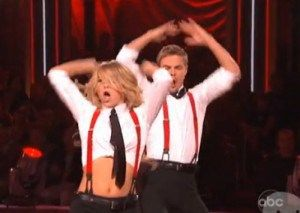 Watch Julianne Hough Perform With (Injured) Derek Hough on 'Dancing With the Stars' | OK! Magazine