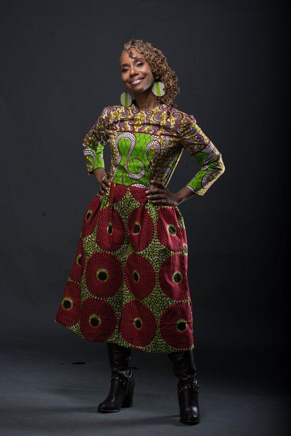 K U R U K ein gemischter afrikanischer Print Overall aus niederländischen Wachs hergestellt
