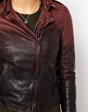 Image 2 ofMuuBaa Ombre Dip Dye Lambs Leather Jacket