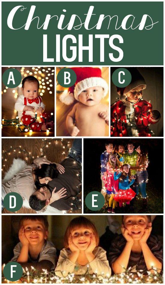 Using Christmas Lights as Holiday Photo Props