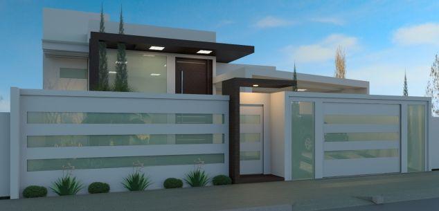 Portao entrada de casa pesquisa google design exterior - Entraditas modernas ...