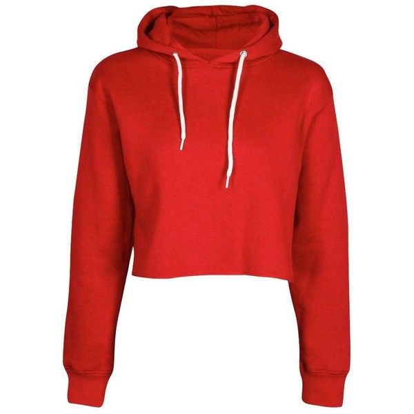 Cameron Marl Brush Cropped Hoody (£12) ❤ liked on Polyvore featuring tops, hoodies, shirts, crop top, jumpers, basic t shirt, hoodie shirt, shirt hoodie and red hoodie