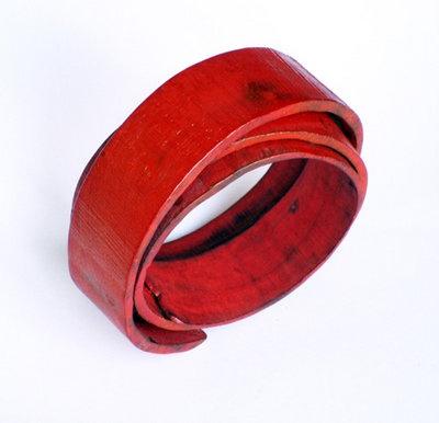 """Flora Vagi """"Red Spiral"""" Bracelet"""