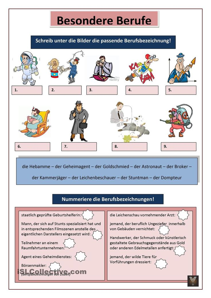 59 best German-BERUFE images on Pinterest   Learn german, German ...