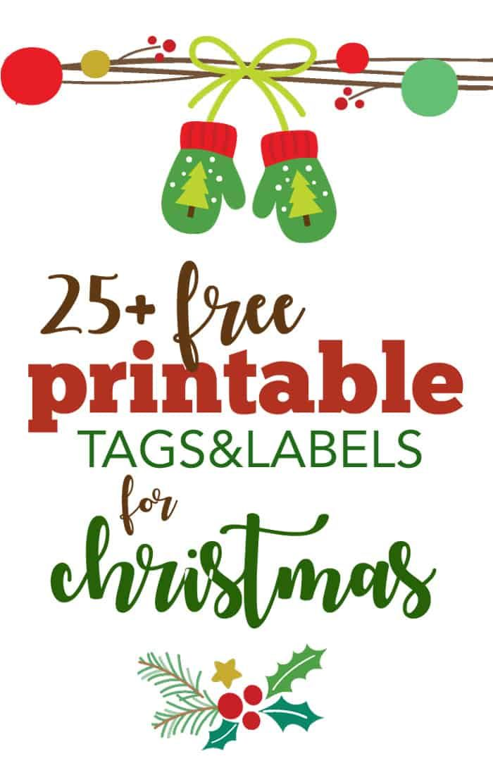 More than 25 FREE Printable Christmas Gift Tags and Labels to make your gifts pretty! via @fivespotgrnvlvng