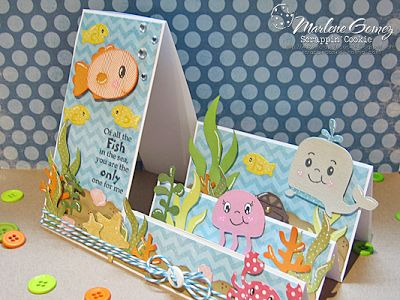 DT Post by Marlene - Super Cute Side step card!