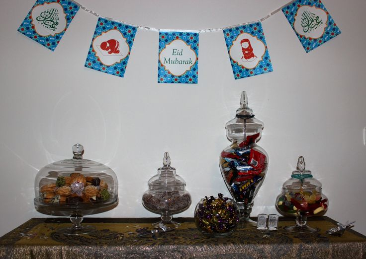 Ramadan, Eid Candy Bar, Eid Banner, Lolly Jars