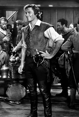 Errol Flynn in The Sea Hawk (1940).  One of my FAVORITE actors in his BEST movie.  BETH