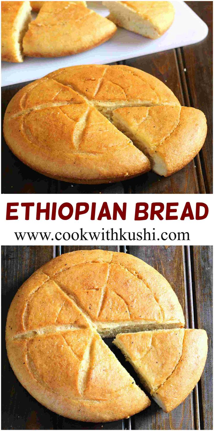Ethiopian bread is a sweet and savory bread, packed with delicate aroma of ground ginger and cardamom. It pairs really well with hot chai-tea latte.