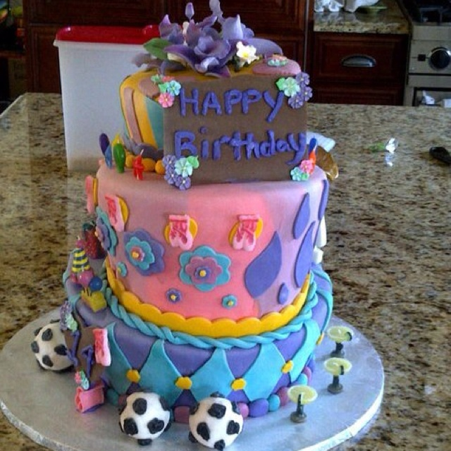 Half 14 th birthday half 40 th birthday cake