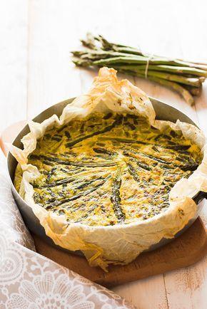 come preparare una farifrittata light di asparagi senza usare le uova e con cottura in forno