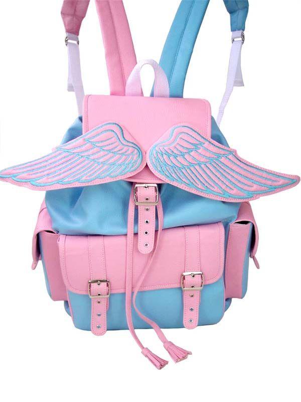 Wings backpack #kawaii #harajuku