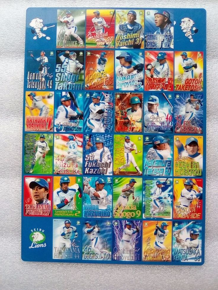 SEIBU  LIONS  team OLD All Player 2006  Japan Baseball  Card A4 Japan #SEIBULIONS