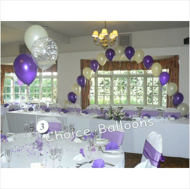 59 best images about top table balloons on pinterest for Balloon decoration for wedding receptions
