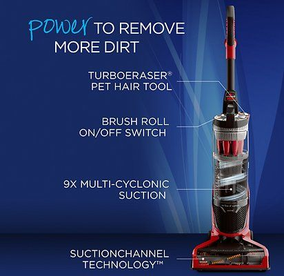 Cover more cleaning ground with the Bissell PowerGlide Suction Channel Technology Pet Vacuum. Unlike other vacuums that only suction on one side of the base, this powerful vacuum creates a direct suction path with edge-to-edge suction across the whole base of the vacuum—giving you a wider, more thorough cleaning path. And with 9X multi-cyclonic suction, this vacuum's suction stays strong* to capture embedded dirt and stubborn pet hair. The lightweight design and swivel steering means this...