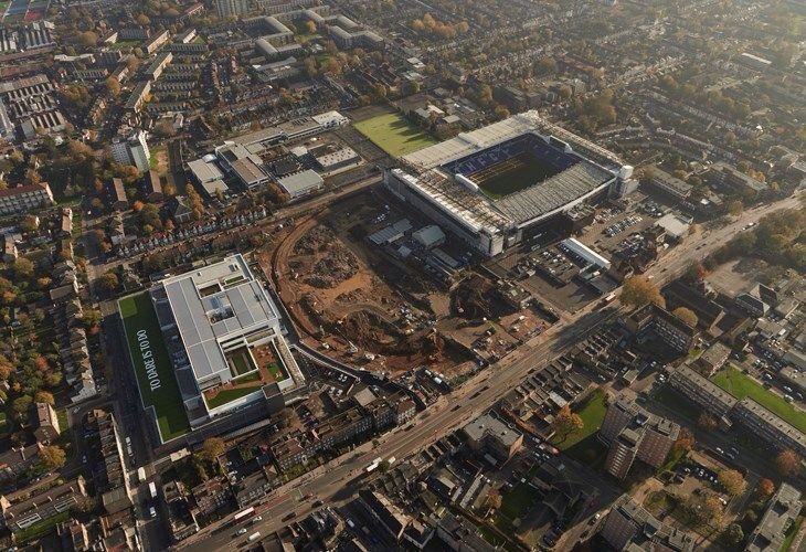 View From Above Of Spurs New Stadium Site Tottenham