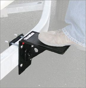 Access your trailered boat with the Trailer Step. Mounts on your trailer frame or tongue creating a versatile step. Made of powder coated steel with a non slip 5-inch platform.