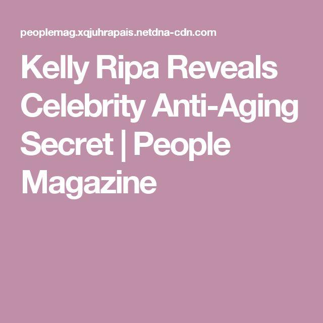 Kelly Ripa Reveals Celebrity Anti-Aging Secret | People Magazine