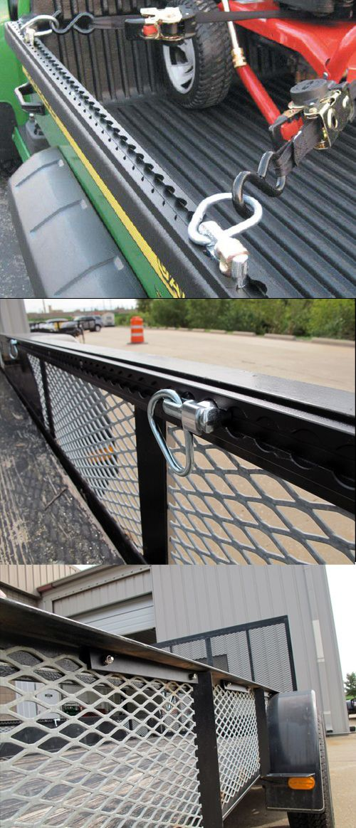 Secure the cargo in your trailer with minimum effort and maximum security- the AnchorTrax Truck Bed and Trailer Cargo Control System with sliding tie-downs is the ideal transportation idea when it comes to trailer accessories! Sliding D-rings accommodate a variety of payloads in pickups, trailers or utility vehicles!