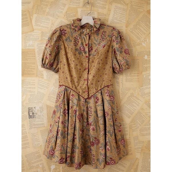 Free People Vintage 1970/80s Batik Dress ($498) ❤ liked on Polyvore