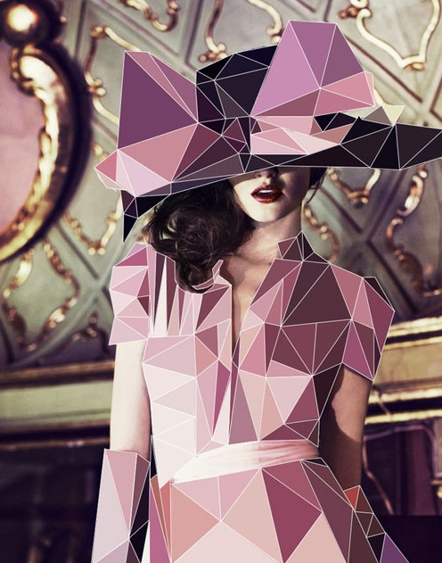 Shape: Cubism uses the shape element in all pieces, this artist seems to have chosen to use multiple triangles. The shapes in this piece ad edge and style, whereas without these shapes the woman may seem more dainty and elegant. The triangular shapes make her outfit more modern.