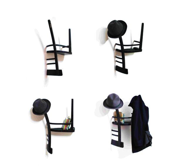Riciclo creativo: le vecchie sedie diventano mensole | Fare casa