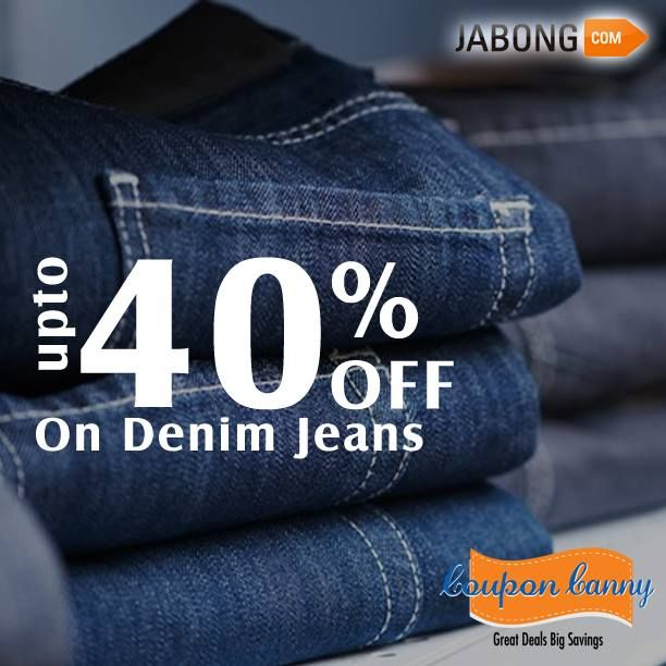 Upto 40% off on ‪#‎Denim‬ Jeans at ‪#‎jabong‬! Claim Now : http://www.couponcanny.in/jabong-coupons/
