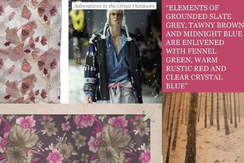 Wanderlust - Wilderness travel inspires a high-winter trend that combines the keen sense of adventure of iconic explorers with a renewed fascination for the great outdoors. This lifestyle trend combines modern functionality with traditional fashion styles.