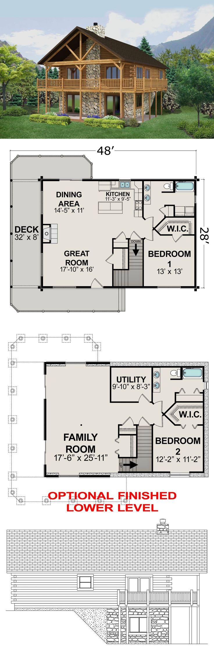 Good small house floor plans cottage amazing pictures grafikdede com - Building Plans And Blueprints 42130 Ranch Home Plan 1120 Sq Ft Usb Drive