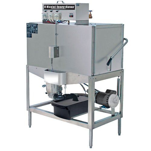 CMA B-2 Double Rack Low Temperature, Chemical Sanitizing Straight Dishwasher Cleans up to 80 racks per hour. Automatic soil purging system. Uses only 0.96 gallons per rack. UL, ETL and CSA Listed. 115V.  #CMADishmachines #MajorAppliances