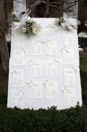 Tableau per matrimonio. Preludio catering & banqueting, addobbi e allestimenti per matrimoni. Wedding settings ideas, wedding inspiration.