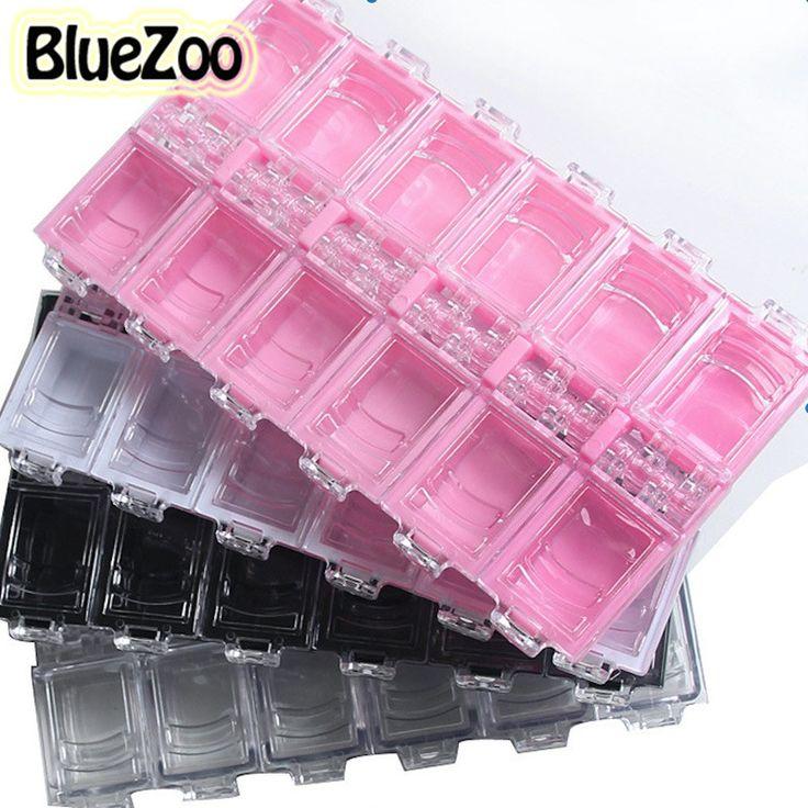 BlueZoo Najwyższej Jakości 12 Siatki Nail Art Odpinany Plastic Storage Box Rhinestone Koraliki Biżuteria Polu Pigułki Nail Art Dekoracje