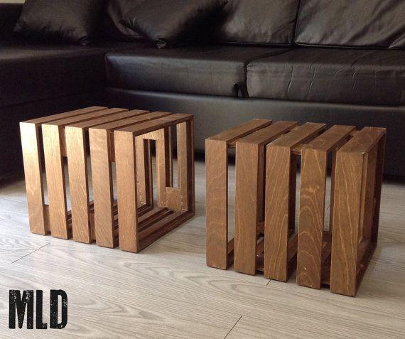 LE CUBOT: cubo modulare in legno a 2 elementi di MakeLiveDesign